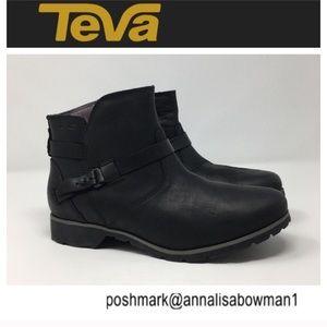 💸Teva DeLa Vina Black Waterproof Ankle bootie